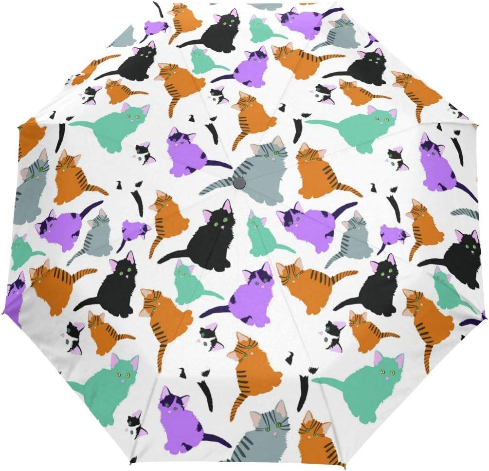 AHOMY Windproof Travel Umbrella Doodle Umbre Cat Oklahoma City Mall Compact 40% OFF Cheap Sale Folding