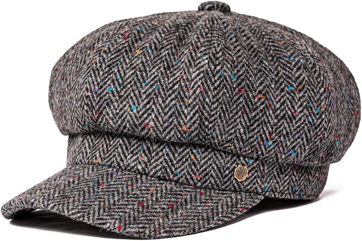 VOBOOM Max 57% OFF 8 Virginia Beach Mall Panel Wool Tweed Newsboy Dri Cap Golf Cabbie Gatsby Ivy