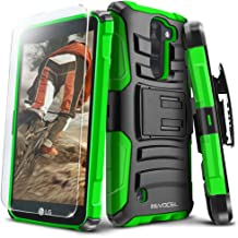 LG K8 V (Verizon) Case, Evocel [Generation Series] Belt Clip Holster, Kickstand, HD Screen Protector, Dual Layer for LG K8V (VS500), Green (EVO-LGVS500-AB212)