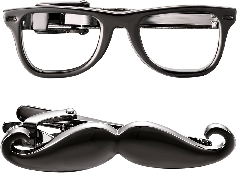 Yoursfs Glasses Mail order cheap Funny Tie Clips Accesso Intellectual Super intense SALE Men for