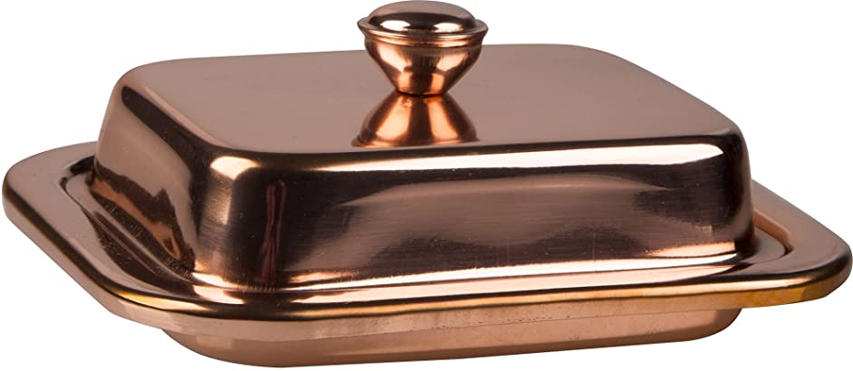 Palais Essentials Stainless Steel Covered Butter Dish (Copper)
