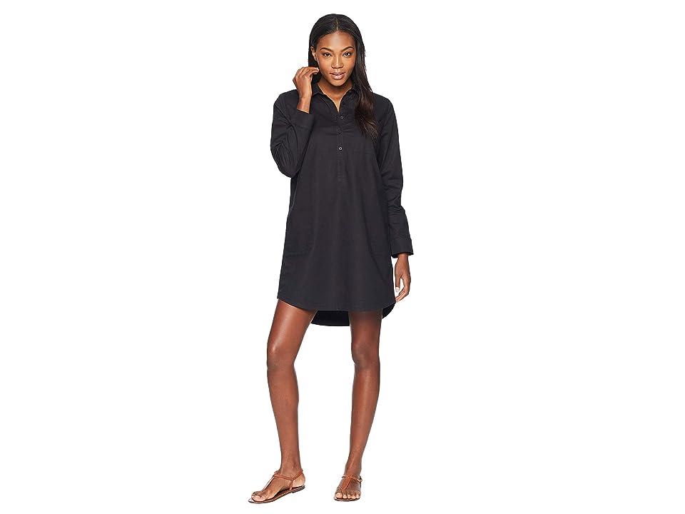 NAU Long Sleeve Entwine Dress (Caviar) Women