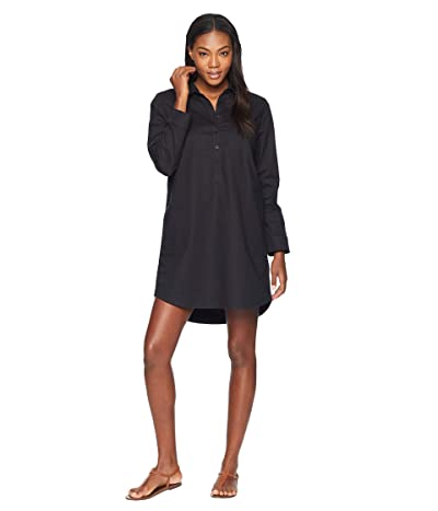 NAU Long Sleeve Entwine Dress (Caviar) Women