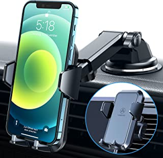 VANMASS Telefoonhouder voor de auto, 3-in-1 ventilatie en zuignap, stabiel, 100% siliconen bescherming, telefoonhouder voo...