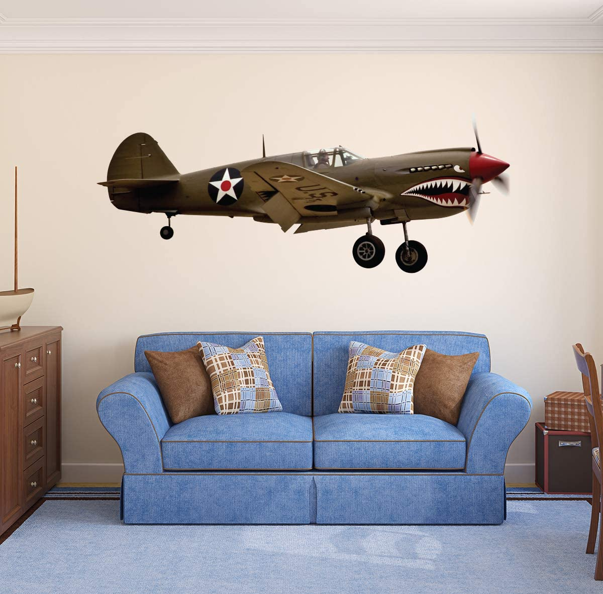Aircraft Memphis Mall Wall Decal WWII Military World War Airplane Gr Quantity limited Art