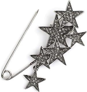 styleBREAKER imperdible de decoración de Mujer con Estrellas de estrás, para Ponchos, pañuelos o chales, alfiler de Seguri...