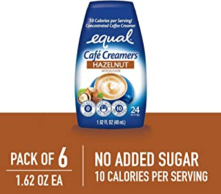 EQUAL Café Coffee Creamers Hazelnut, Low-Calorie Coffee Creamer, 1.62 Ounce (Pack of 6)