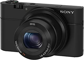 "Sony RX100 20.2 MP Premium Compact Digital Camera w/ 1-inch sensor, 28-100mm ZEISS zoom lens, 3"" LCD"