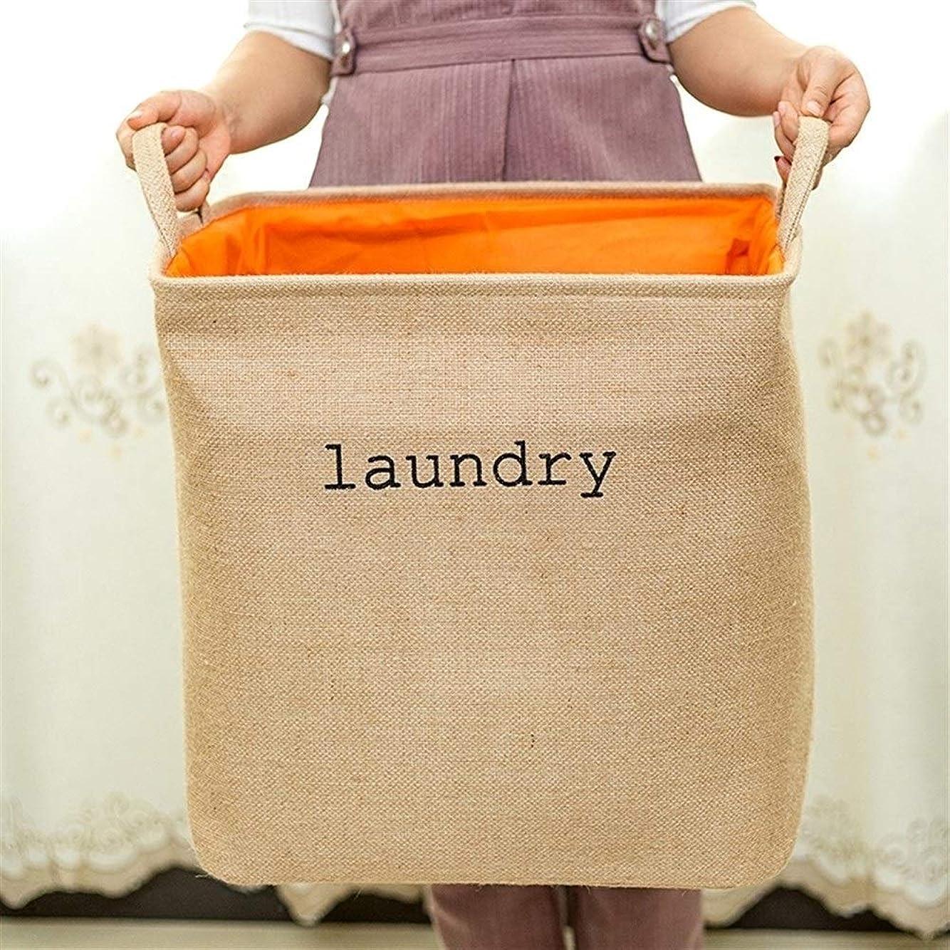 夏杭こねる折り畳み式の衣類収納バスケット-綿、キューブ型-ホームオーガナイザー、汚れた衣類収納ボックス。バスルームに適しています (Color : A 40*32*43CM)