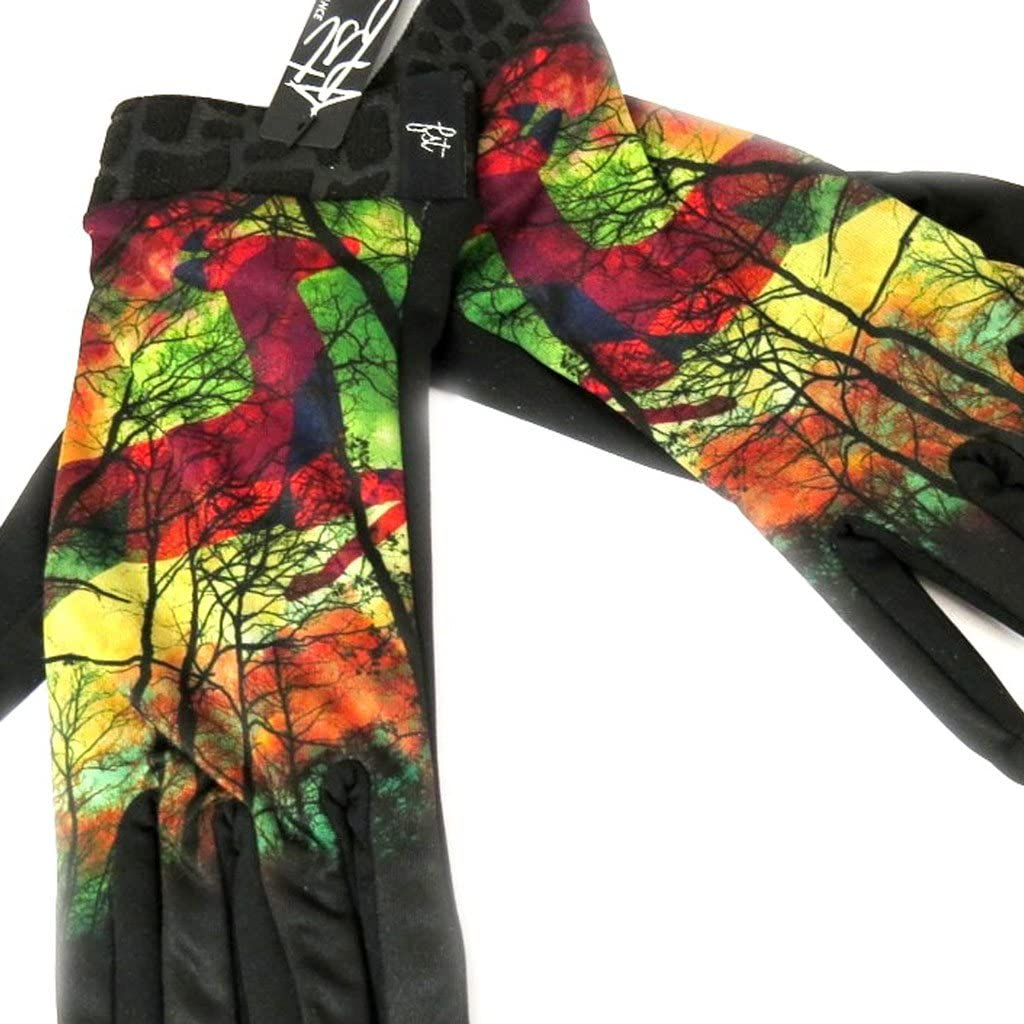 Designer gloves 'Diane' black tutti frutti.