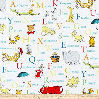 Robert Kaufman Dr. Seuss ABC Alphabet Words Adventure Fabric By The Yard