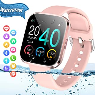 Smart Watch,Bluetooth Smartwatch Touch Screen Sports Fitness Watch Activity Tracker with Heart...