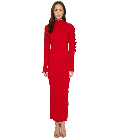 Preen by Thornton Bregazzi Allegra Cold Ruffle Shoulder Knit Dress