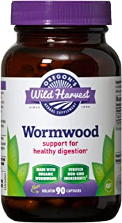 Oregon's Wild Harvest Wormwood Capsules, Non-GMO Organic Herbal Supplements (Packaging May Vary), 90 Count