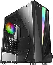 Mars Gaming MCL, caja PC, cristal templado, ventilador 12cm, LED 46 efectos