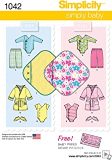 Simplicity Boy and Girl Baby Layette Baby Clothing And Blanket Sewing Pattern, Infant Sizes XXS-L