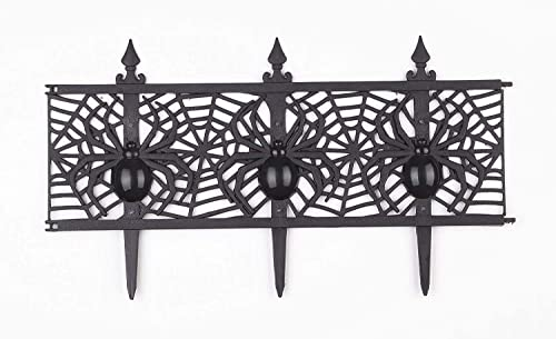 new arrival Decorative Halloween Spider Garden Fence outlet sale - Set of 8 discount by Jumbl outlet sale