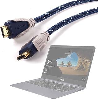 DURAGADGET Cable HDMI De Audio Y Vídeo para Portátil HP OMEN 15-ce016ns, ASUS FX504GE-DM198T, ASUS FX504GD-DM473, ASUS VivoBook S14 S406UA-BV121T - 1.4m - Conexiones Chapadas En Oro HD