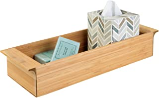 iDesign 86362 Formbu Wood Tank Top Storage Handles, Wooden Organizer for Tissues, Candles, Soap, Hand Towels, Toilet Pape...