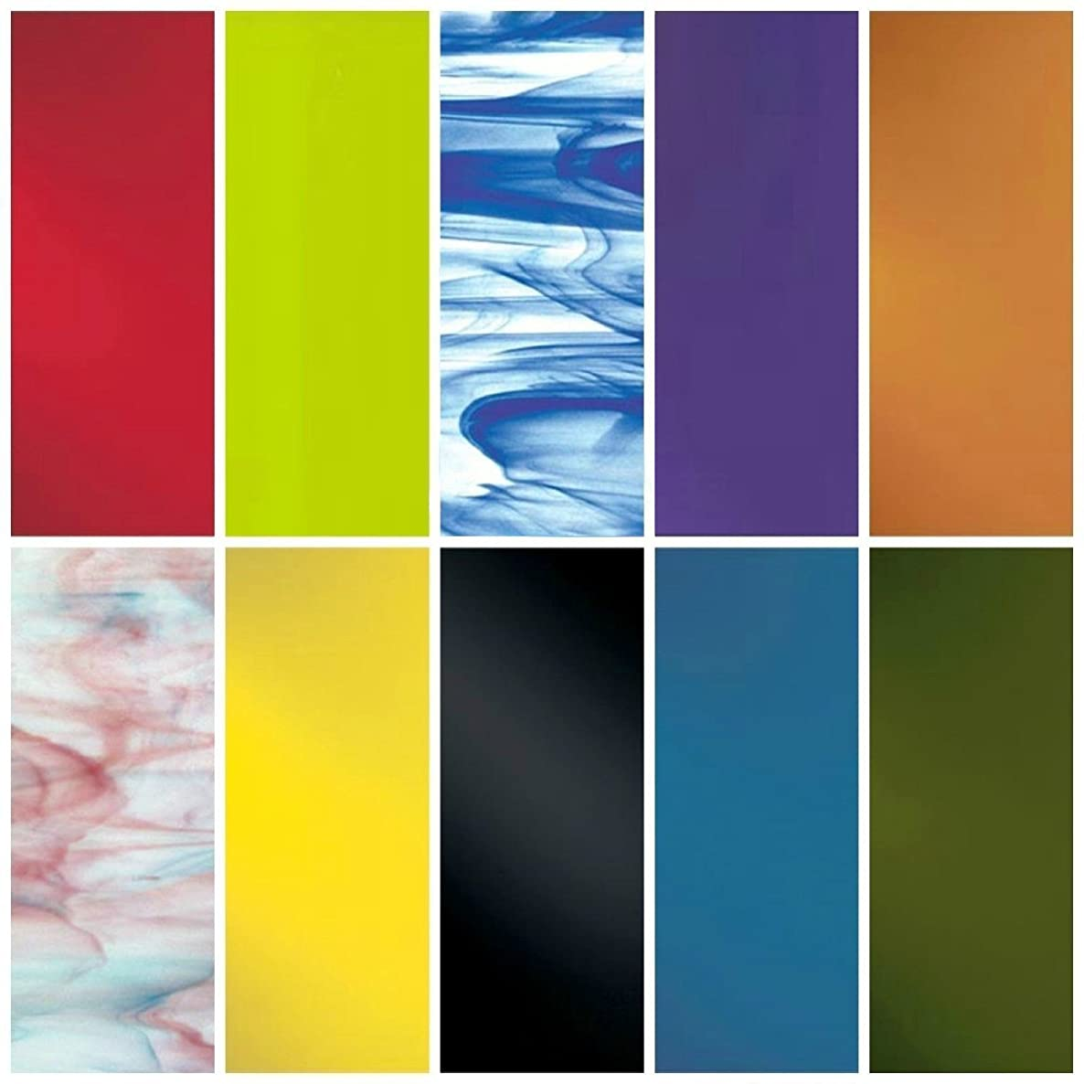 Spectrum/Wissmach System 96 Assorted Fusible Glass Pack 10 Sheets - COE 96