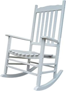 Rocking Rocker - A001WT White Porch Rocker/Rocking Chair - Easy to Assemble - Comfortable Size - Outdoor or Indoor Use