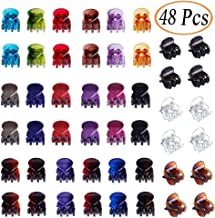 48 Pcs ONCIDIUM Mini Hair Clips Claws Clips Colorful Plastic Hair Clamps for Girls and Women (Bright and Pearl multicolor)