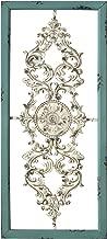 Stratton Home Decor SHD0121 Scroll Panel Wall Decor, 10.00 W X 1.50 D X 10.00 H Each, Teal/White