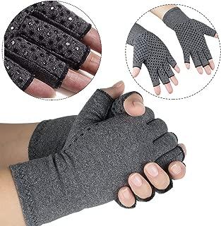 vinmax Arthritis Gloves, Cotton & Spandex Arthritis Rehabilitation Bumps Training Nursing Grip Gloves Open Finger Keep Hands Warm & Relieves Pain for Men & Women