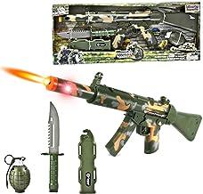 "23"" Combat Force Machine Gun Military Playset w/ Rifle + Grenade + Knife"