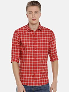 Chennis Men's Red Casual Shirt
