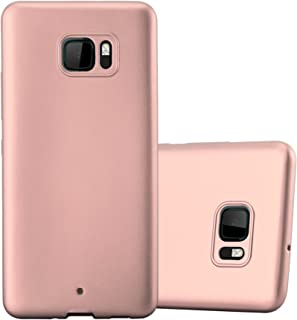 Cadorabo Case Works with HTC U Ultra in Metallic ROSÉ Gold – Shockproof and Scratch Resistant TPU Silicone Cover – Ultra Slim Protective Gel Shell Bumper Back Skin