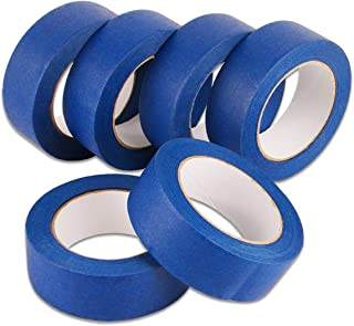 Lichamp Painters Tape Wide 1.5 inches, Masking Blue Painters Tape Bulk Pack, 6 Rolls x 1.5 inches x 55 Yards (330 Total Ya...