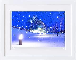 【写真工房アートフォト 額装写真】 ガラスのピラミッド/モエレ沼公園/北海道 札幌市(ホワイト 大判サイズ 557mm×442mm)