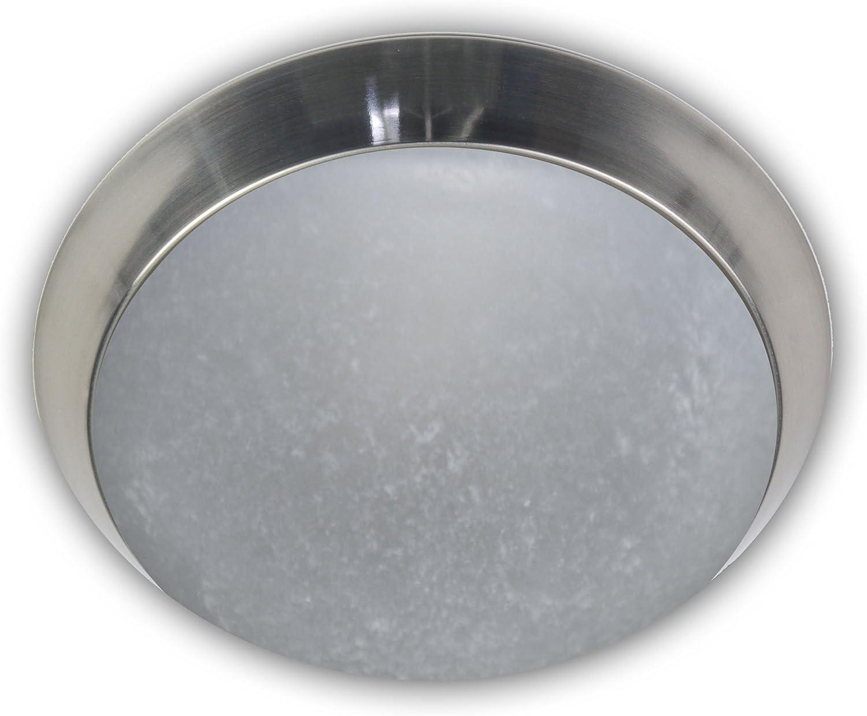 Niermann Standby Deckenleuchte - Pergament - Dekorring Nickel matt, 30 cm Glas Metall 30 x 30 x 11 cm