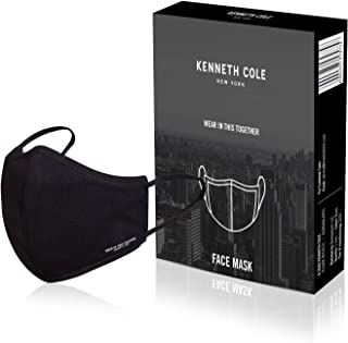 Kenneth Cole 6 Layer Lightweight Cotton Cloth Face Mask Respirator For Germs, Heat, Dust & Pollution Protection Filter Wit...