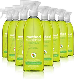 Method All Purpose Cleaner, Lime + Sea Salt, 28 Fl Oz (Pack of 8), Eco-Friendly Multi-Surface Cleaning Spray