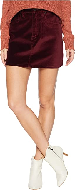 The Viper Mini Skirt in Port