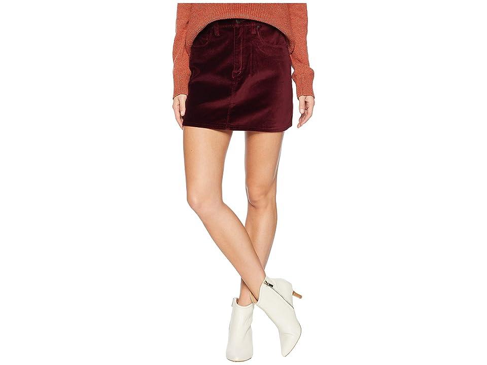 Hudson Jeans The Viper Mini Skirt in Port (Port) Women