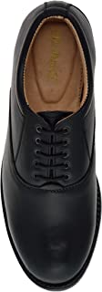 MR. MOCHI Oxford Dress Black Leather Shoes for Police Uniform/Security Staff