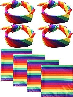 rainbow dog bandana