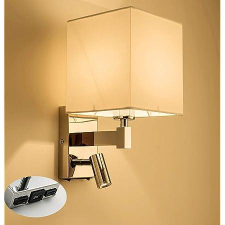 1 2 Harper Living 1xE27//ES Up Down Wall Light Avec Réglable DEL Lampe de lecture