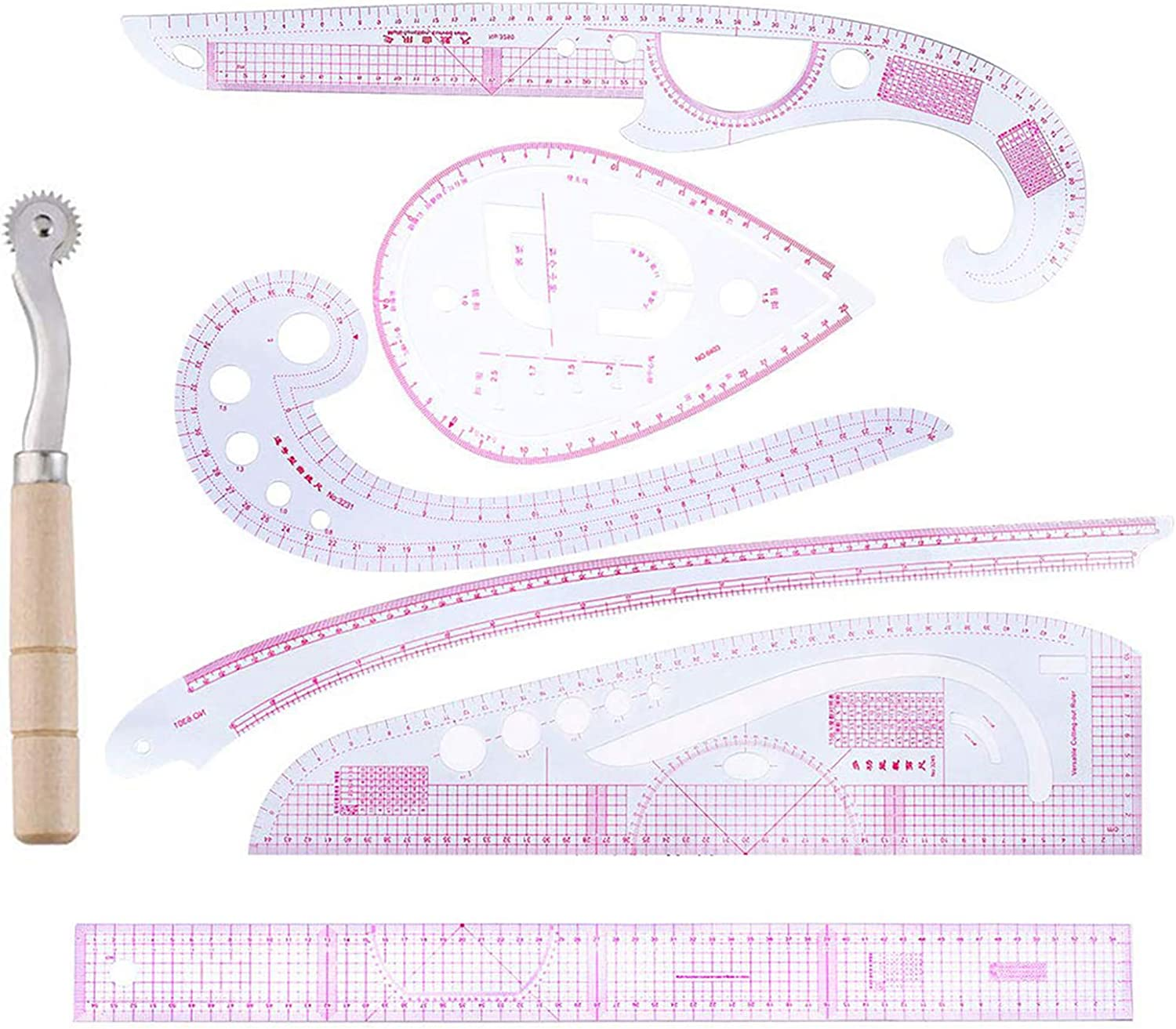 SOONHUA All items in the store Sewing Ruler DIY Tailor Set Curve Max 57% OFF 7pcs Met