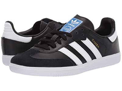adidas Originals Kids Samba OG C (Little Kid) (Black/White) Kids Shoes