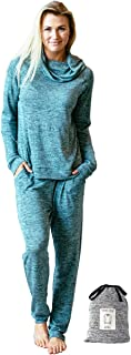 hello mello Carefree Threads,  Top and Pant Matching Set with Drawstring Bag,  Melange (X-Large (16),  Mint)