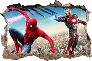 IRON MAN The Avengers Smashed Wall 3D Decal Removable Graphic Wall Sticker H159
