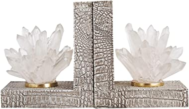 BIAOYU Bookends Book End Decor Bookends Modern Heavy Duty Book Ends Supports for Shelf Book End for Home Office Decorative Bo