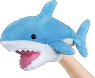 Ice King Bear Cute Blue Plush Shark Hand Puppet - Stuffed Animal Toy - 14 Inches Long