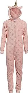 Girl's Plush Fleece Onesie Pajamas with Character Hood