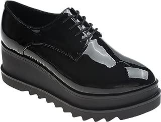 Womens Fashion Oxfords Creepers High Platform Wedge Heel Shoes