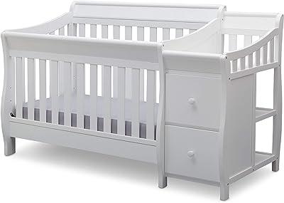 Delta Children Bentley S Convertible Crib and Changer, White